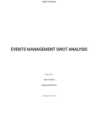 event management swot analysis