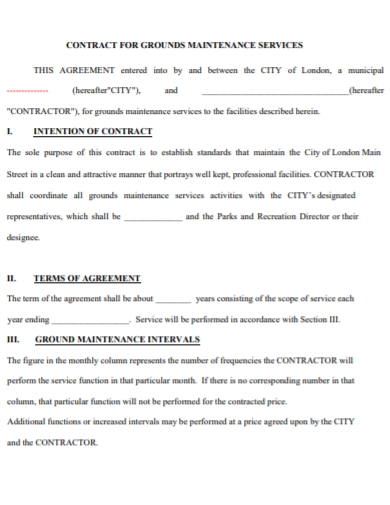 ground maintenance services contract