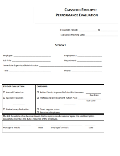 hr employee performance evaluation form