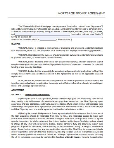 mortgage broker agreement