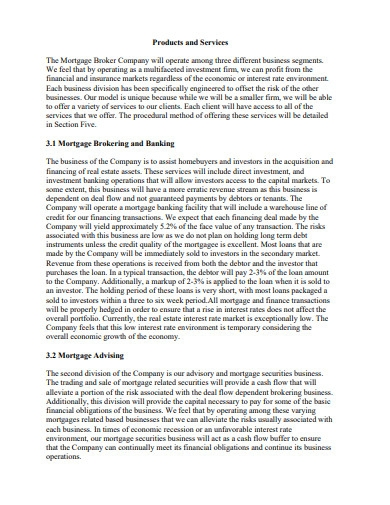 mortgage broker business plan example