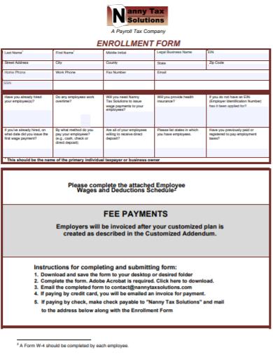 nanny tax fee payment receipt