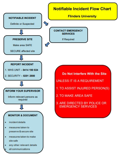 notifiable incident flow chart template