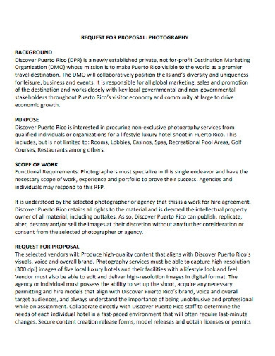 printable photography business proposal template