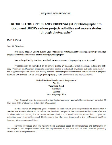 professional photography business proposal template