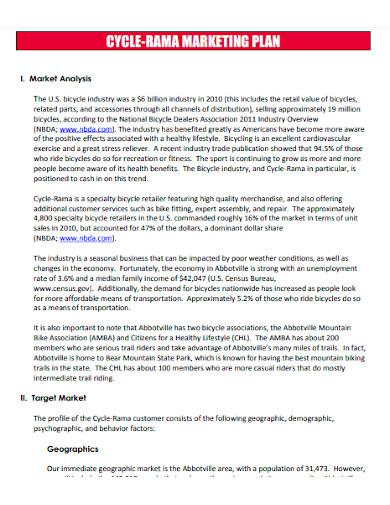professional retail marketing plan template