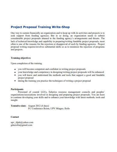 project proposal training example