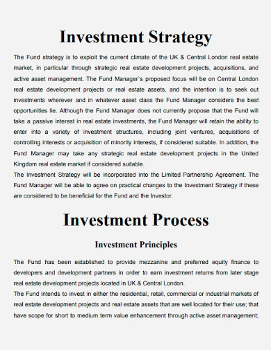 real estate property investment proposals template