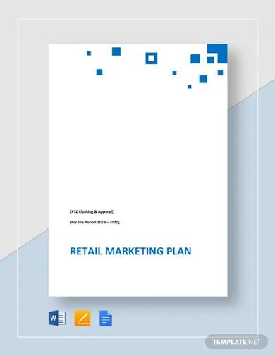 retail marketing plan example