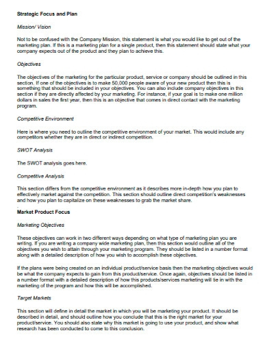 retail product marketing plan template
