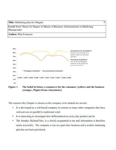 retail ecommerce marketing plan template
