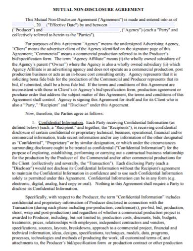 social media non disclosure agreement