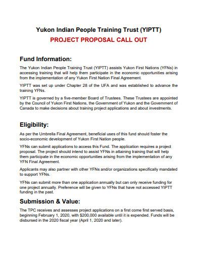 training trust project proposal