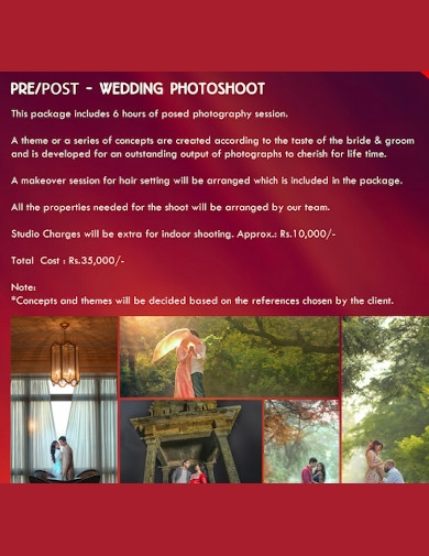wedding photography business proposal template