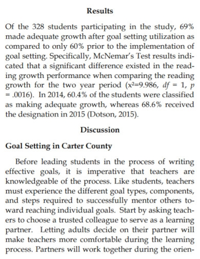 academic performance goals for high school students