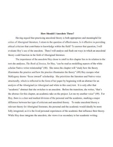 anecdote literature essay