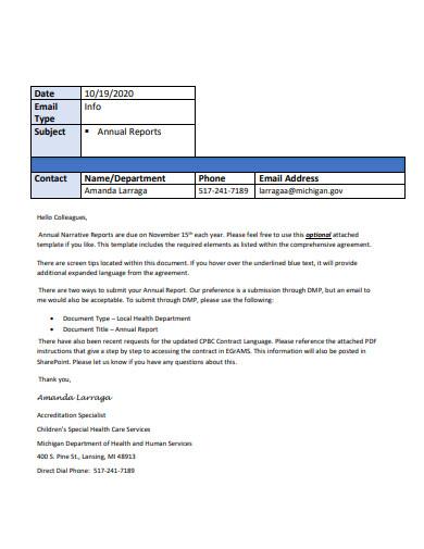 annual narrative report in pdf
