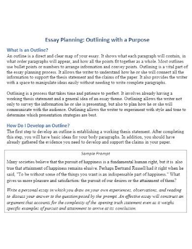 argumentative essay planning outline