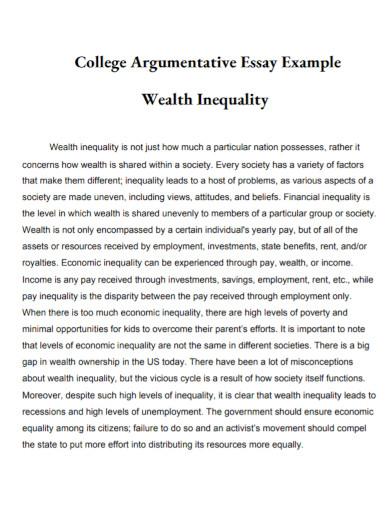 argumentative essay for college template