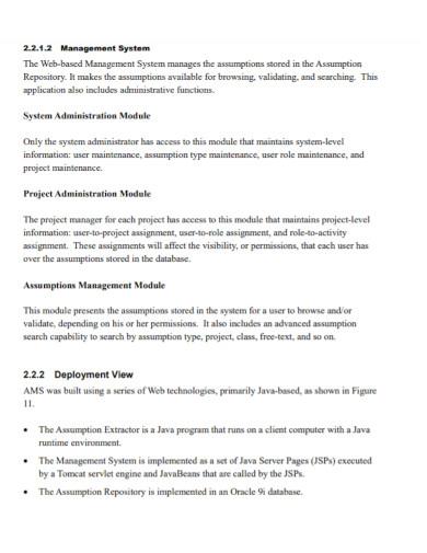 assumptions log in software development