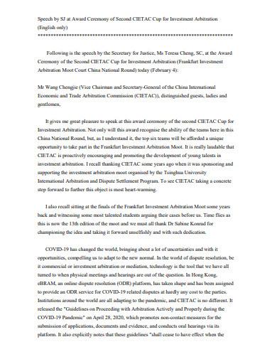 award ceremony speech in pdf