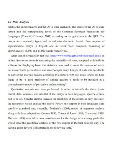 basic comparative analysis essay