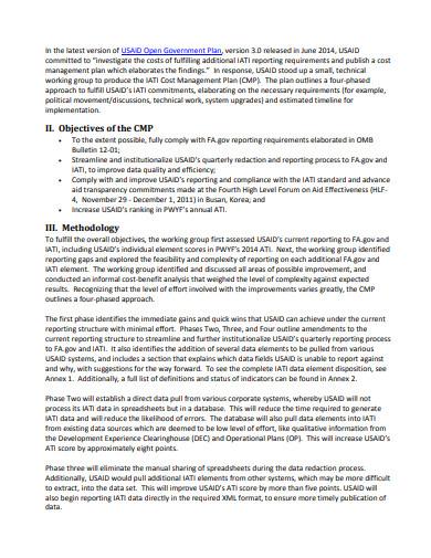 basic cost management plan