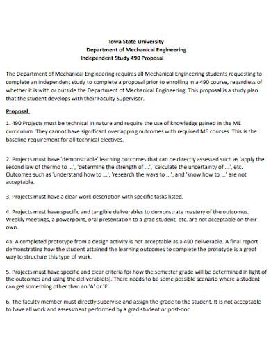 basic mechanical engineering proposal