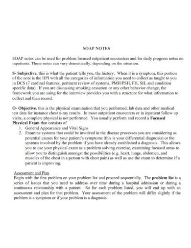 basic psychiatric soap note