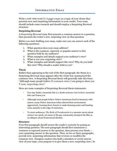 basic short informative essay