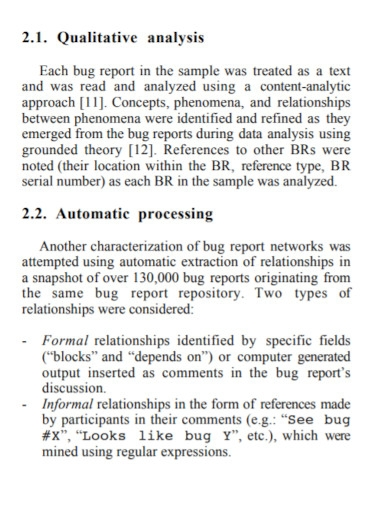bug report networks