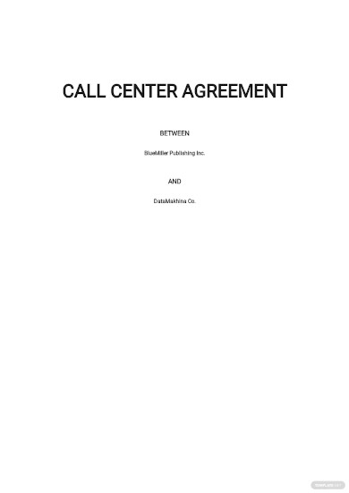 call center budget agreement template