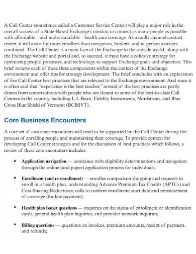 call center budget of health