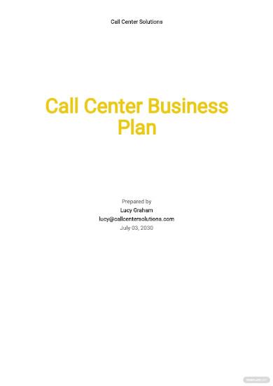 call center business plan budget template
