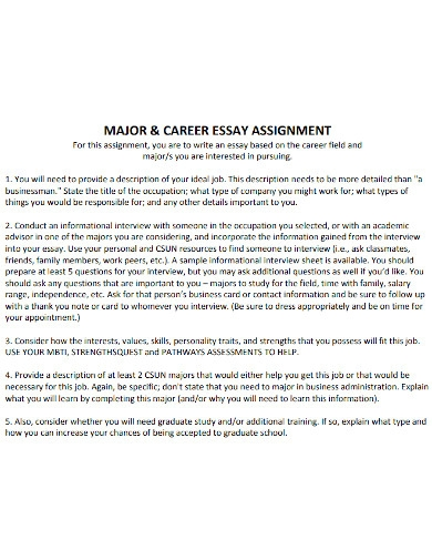 career pursuing essay