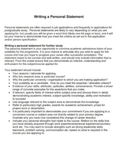 career university personal statement