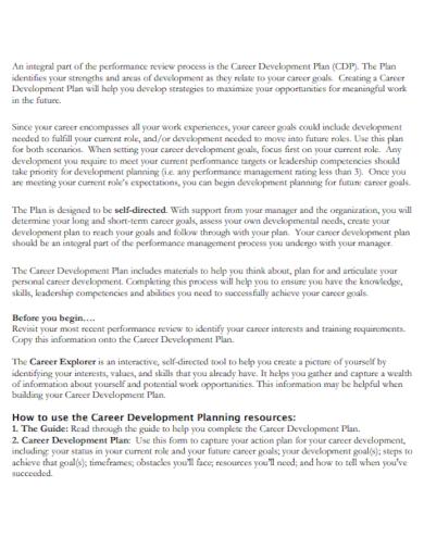 career leadership development goals