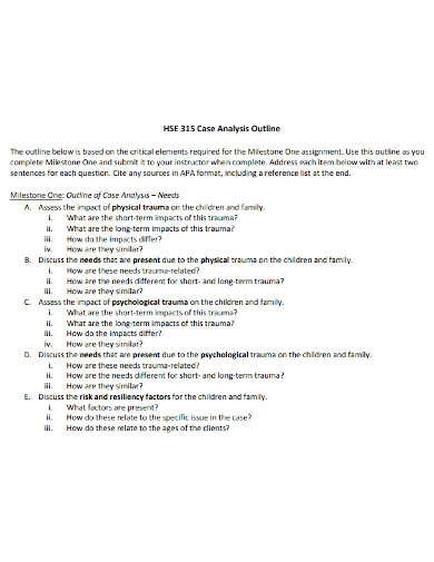 case analysis paper outline