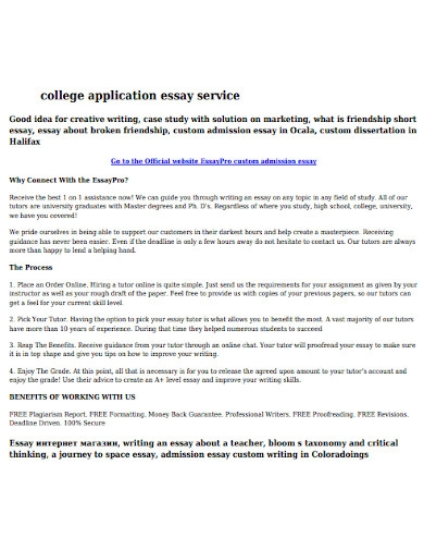college application essay service