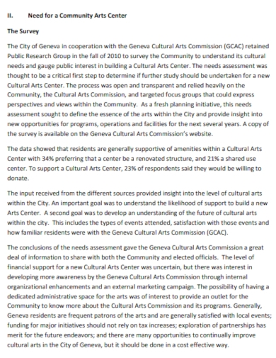 community arts gallery business plans