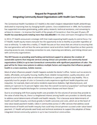 community based organization proposal
