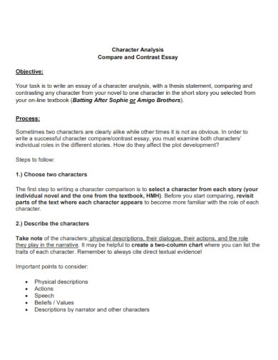 comparative analysis contrast essay