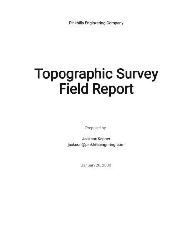 construction field report template