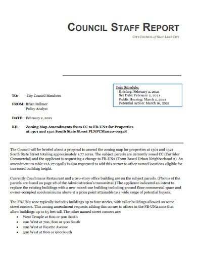council staff report