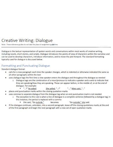 creative dialogue writing