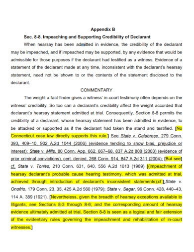 credibility of declarant statement