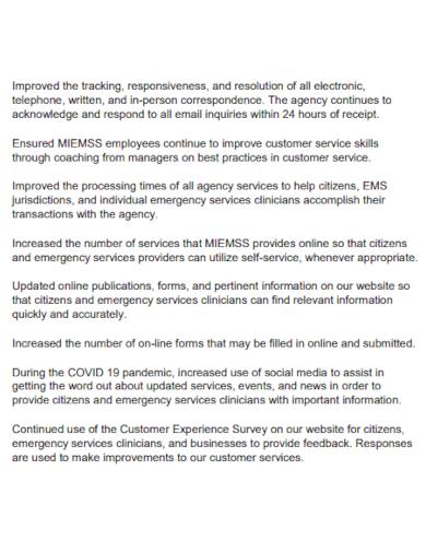 customer service annual report