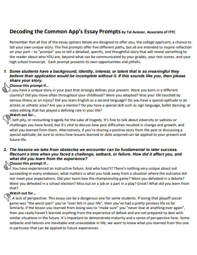 decoding the common app essay prompts