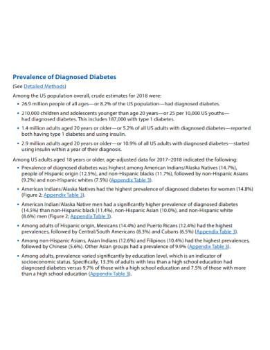 diabetes statistics report