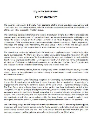 diversity policy statement